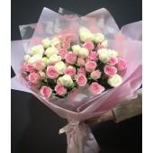 Букет Утро в Париже из кустовых роз