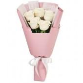 Букет из 5 роз Комплимент белый