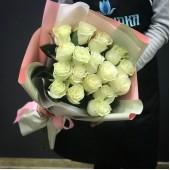 """Букет из 17 роз """"Passion"""" белый"""
