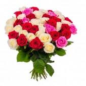 Букет 51 роза микс 60 см
