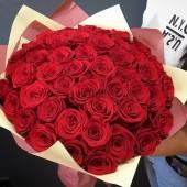Букет из 51 розы в упаковке