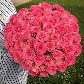 Букет 51 розовая роза Эквадор