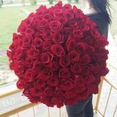 """Букет """"101 красная роза""""  Эквадор 60-65 см"""