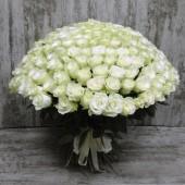 """Букет """"201 белая роза"""" 60см"""