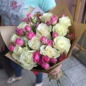 """Букет  из роз """"С заботой"""""""