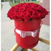 """Цилиндр """"Страсть"""" с 51 розой"""