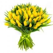 101 желтый тюльпан премиум