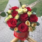"""Бочонок """"С любовью"""" из роз"""
