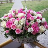 "Корзина ""Розовая прелесть"""