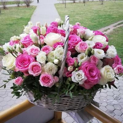 Корзина Розовая прелесть