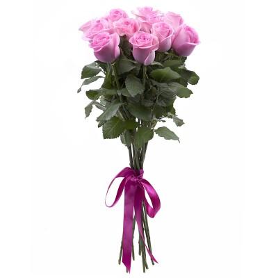 Букет из 11 розовых роз 60 см Эквадор