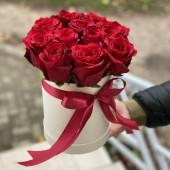 """Цилиндр """"11 красных роз"""" премиум Эквадор"""