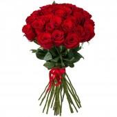 Букет из 21 красной розы Эквадор 60 см