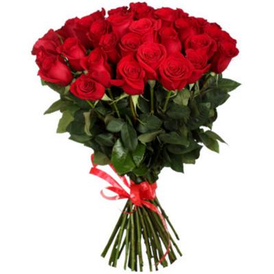 Букет из 25 красных роз 60 см Эквадор