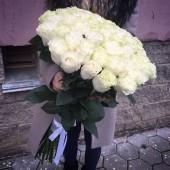 Роза белая 90 см Премиум Эквадор