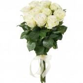 Букет из 11 белых роз 60 см Эквадор