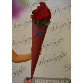 """Конус """"Красные розы """" бордовый"""