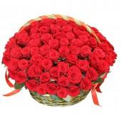 "Корзина ""101 красная роза премиум"""