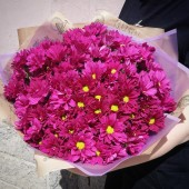 """Букет """"Розовые ромашки"""" из 15 шт"""