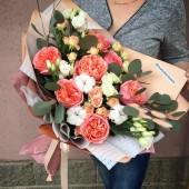 Букет Вдохновение с пионовидными розами